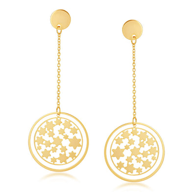 Sukkhi Stylish Gold Plated Heart with round shaped earring for women