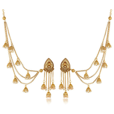 Sukkhi Stylish Long Hair Chain Earrings For Women