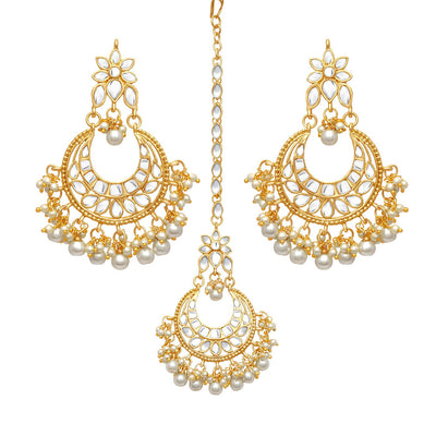 Sukkhi Trendy Gold Plated Kundan Chandbali Earring for Women