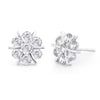 Sukkhi Ritzy Floral Stud Rhodium Plated Earring for women