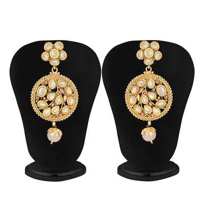 Sukkhi Ravishing Kundan Gold Plated Earring for Women