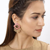 Sukkhi Cluster Mint Collection Gold Plated Earring for Women