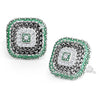 Sukkhi Glimmery Rhodium Plated Meenakari Stud Earring For Women