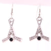 Sukkhi Designer Crystal Stone Rhodium Plated Earring for Women
