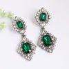 Sukkhi Exotic Crystal Stone Green Rhodium Plated Earring for Women