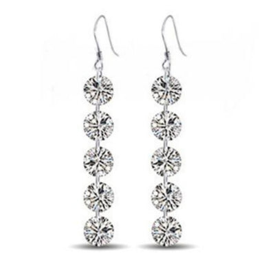 Sukkhi Eye-catchy Round Cubic Zirconia Rhodium Plated Earring for Women