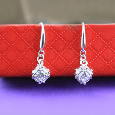 Sukkhi Shimmering Cubic Zirconia Rhodium Plated Earring for Women