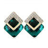 Sukkhi Trendy Green Crystal Gold Plated Earring for Women