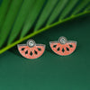Sukkhi Fancy Oxidised Mint Collection Stud Earring For Women