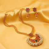 0019 Sukkhi Traditionally Gold Plated Necklace Set For Women