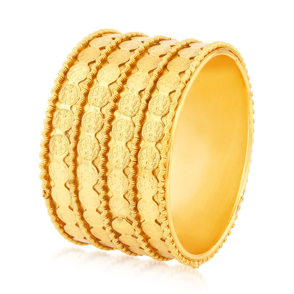 Sukkhi Resplendent Temple Gold Plated Kada For Women Set Of 1