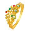 Sukkhi Glitzy Gold Plated Crown Floral Kada for Women