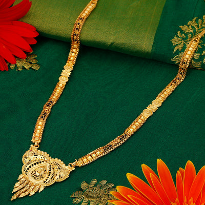 Sukkhi Designer 24 Carat 1 Gram Gold Jewellery Mangalsutra for women