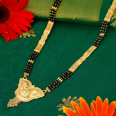 Sukkhi Moddish 24 Carat 1 Gram Gold Jewellery Mangalsutra for women