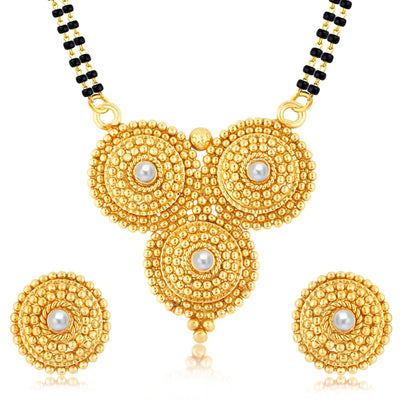 Sukkhi Finely Gold Plated Mangalsutra Set For Women