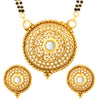 Sukkhi Sleek Round AD Gold Plated Mangalsutra Set for Women