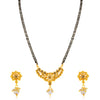 Sukkhi Marvellous Gold Plated LCT Stone Floral Mangalsutra for Women
