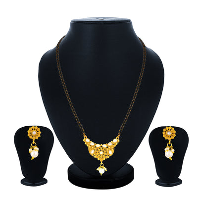 Sukkhi Antique Gold Plated Kundan Mangalsutra for Women