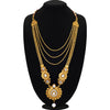 Sukkhi Marvellous Gold Plated Jalebi Long Haram Dual Necklace Set for women