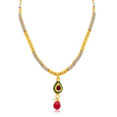 Sukkhi Pleasing Gold Plated Choker Necklace Set For Women-1