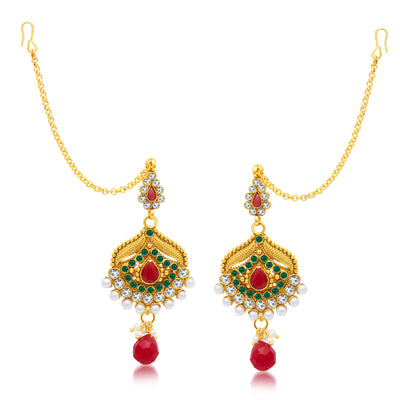 Sukkhi Royal Gold Plated Choker Necklace Set For Women-2