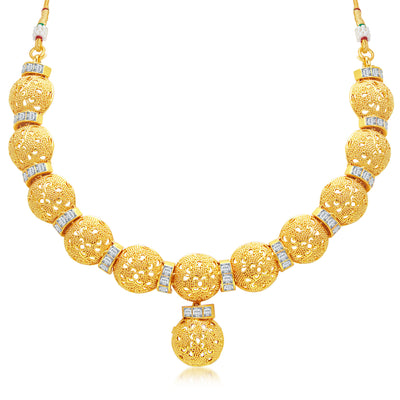 Sukkhi Fashionable Gold Plated Choker Necklace Set For Women-1