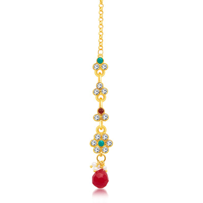 Sukkhi Beguiling Gold Plated Choker Necklace Set For Women-3