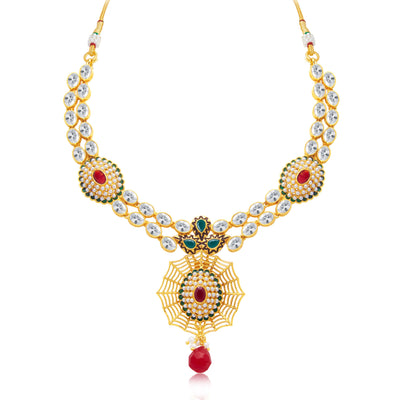 Sukkhi Exquitely Gold Plated Choker Necklace Set For Women-1
