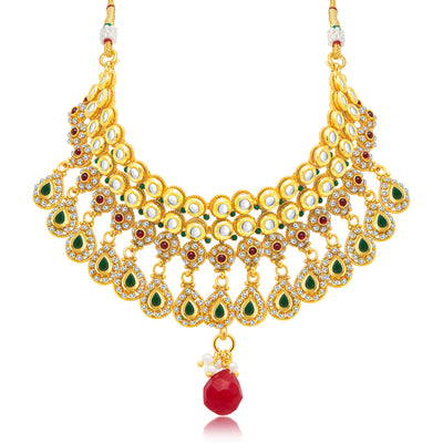 Sukkhi Exotic Gold Plated Choker Necklace Set For Women-1