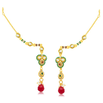 Sukkhi Exotic Gold Plated Choker Necklace Set For Women-2