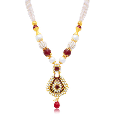 Sukkhi Beguiling Gold Plated Long Haram Necklace Set For Women-1