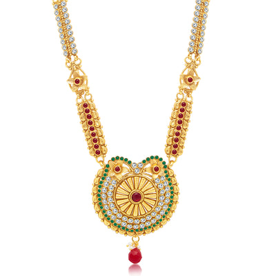Sukkhi Creative Gold Plated Long Haram Necklace Set For Women-1