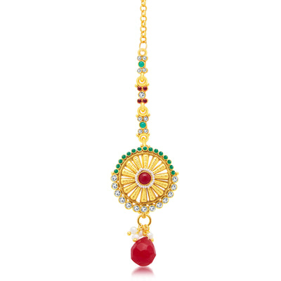 Sukkhi Creative Gold Plated Long Haram Necklace Set For Women-3