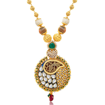 Sukkhi Delightful Gold Plated Long Haram Necklace Set For Women-1