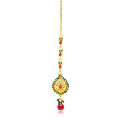 Sukkhi Marvellous Peacock Gold Plated Choker Necklace Set For Women-3