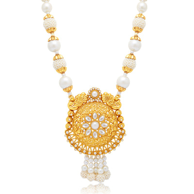 Sukkhi Artistically Peacock Gold Plated Long Haram Necklace Set For Women-1