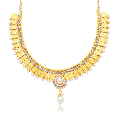 Sukkhi Gorgeous Laxmi Coin Gold Plated Traditional Necklace Set For Women-1