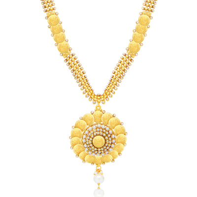 Sukkhi Fashionable Laxmi Coin Gold Plated Traditional Necklace Set For Women-1