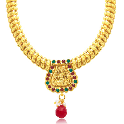 Sukkhi Luxurious Laxmi Gold Plated Choker Necklace Set For Women-1