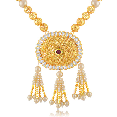 Sukkhi Artistically Gold Plated Bridal Necklace Set For Women-1