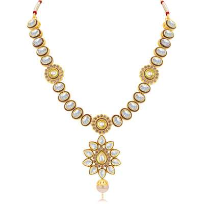 Sukkhi Gorgeous Gold Plated Choker Necklace Set For Women-1
