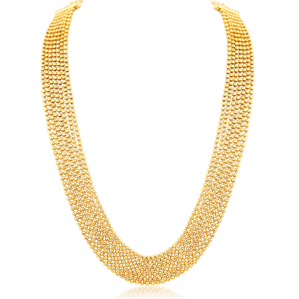 Sukkhi Amazing 7 String Gold Plated Necklace set For Women ...