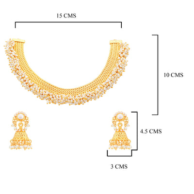 Sukkhi Astonish Gold Plated Choker Necklace set For Women-1