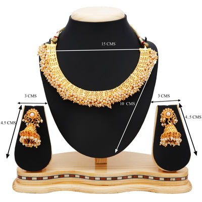 Sukkhi Astonish Gold Plated Choker Necklace set For Women-4