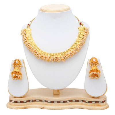Sukkhi Astonish Gold Plated Choker Necklace set For Women-5