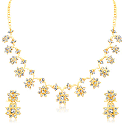 Sukkhi Stylish Gold Plated Collar Necklace set For Women-2