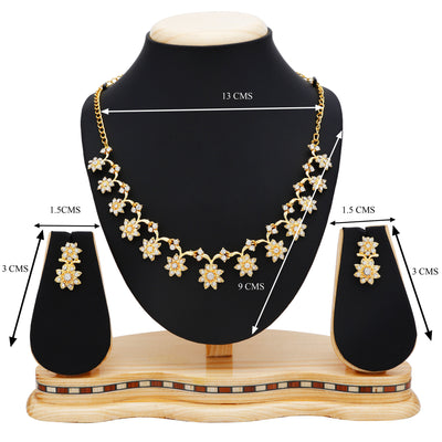 Sukkhi Stylish Gold Plated Collar Necklace set For Women-4