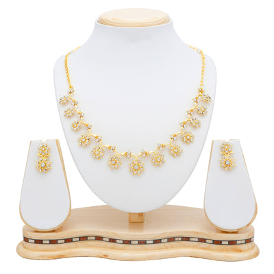Sukkhi Stylish Gold Plated Collar Necklace set For Women-5