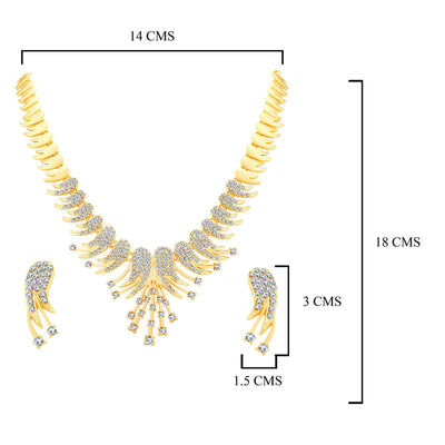 Sukkhi Marvellous Gold Plated Collar Necklace set For Women