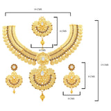 Sukkhi Modish Temple Gold Plated Necklace set For Women-1